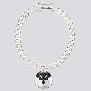 Cartoon Schnauzer Charm Bracelet, One Charm