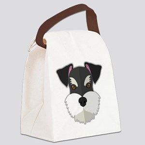 Cartoon Schnauzer Canvas Lunch Bag