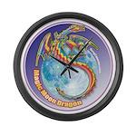 Magic Moon Dragon Large Wall Clock