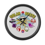 SolarBrate Large Wall Clock