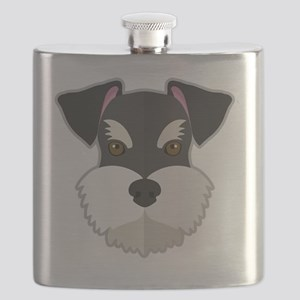 Cartoon Schnauzer Flask