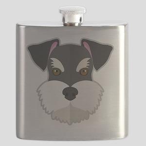 Cartoon Schnauzer Flask