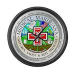 Medical Marijuana Large Wall Clock