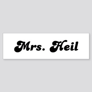 Mrs. Heil Bumper Sticker