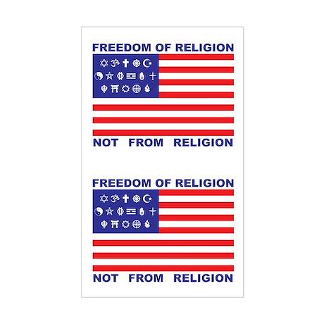Freedom of Religion Rectangle Sticker