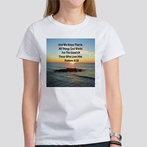 ROMANS 8:28 Women's Classic White T-Shirt