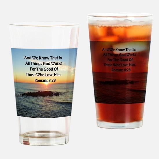 ROMANS 8:28 Drinking Glass