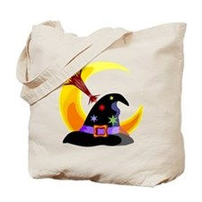 Halloween Witches Hat Tote Bag