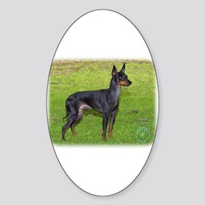 English Toy Terrier 9R095D-062 Sticker (Oval)