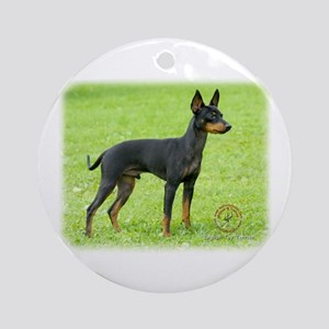 English Toy Terrier 9R095D-062 Ornament (Round)