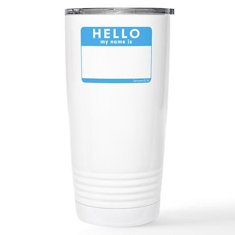 Blank Name Tag Stainless Steel Travel Mug