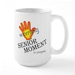 senior moment in progress Large Mug