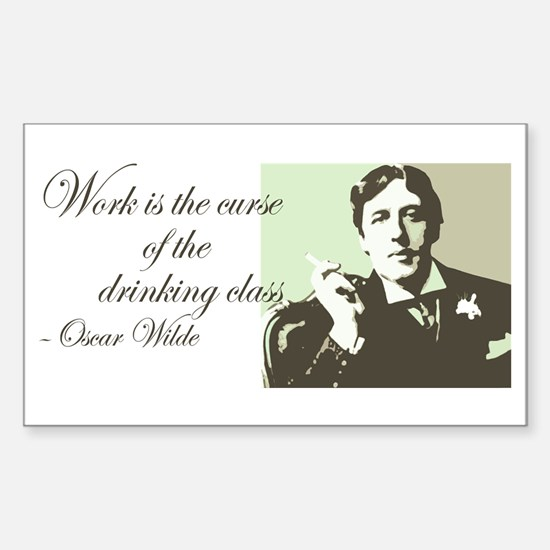 Oscar Wilde Rectangle Decal