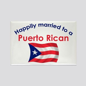Happ Married Puerto Rican 2 Rectangle Magnet