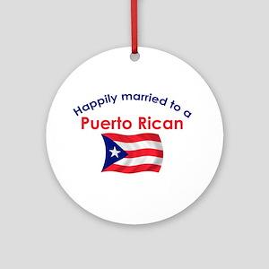 Happ Married Puerto Rican 2 Ornament (Round)
