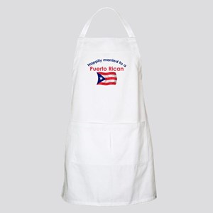Happ Married Puerto Rican 2 BBQ Apron
