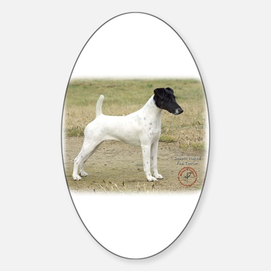 Fox Terrier 9P011D-093 Sticker (Oval)