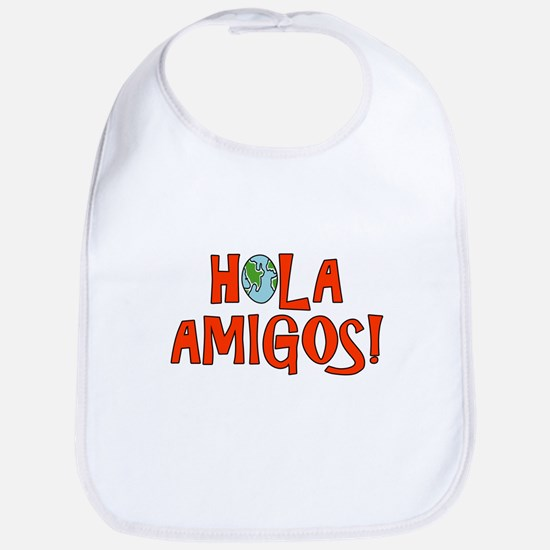 Hello Friends Spanish Bib