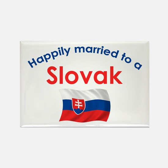 Happily Married Slovak 2 Rectangle Magnet