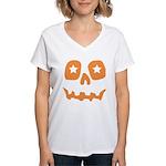 Pumpkin Star Women's V-Neck T-Shirt