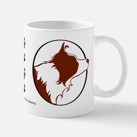 Border Collie Head R&W Mug