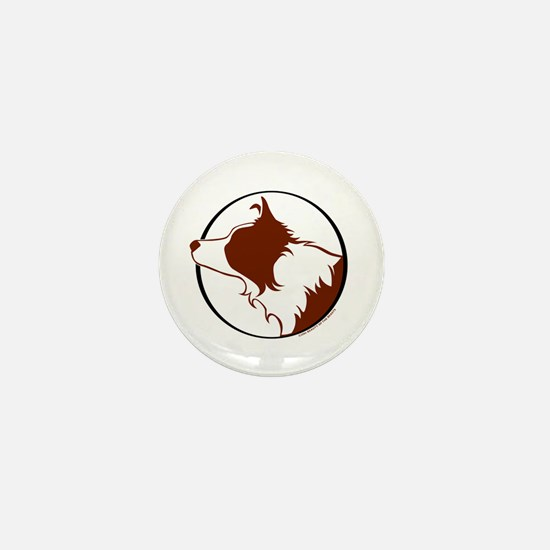 Border Collie Head R&W Mini Button