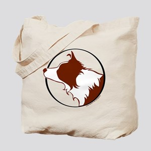 Border Collie Head R&W Tote Bag