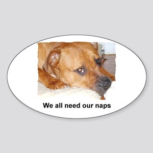 WE ALL NEED OUR NAPS Oval Sticker