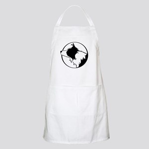 Border Collie Head B&W BBQ Apron