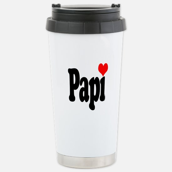 I love Papi Stainless Steel Travel Mug