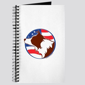 Border Collie R&W Flag Journal