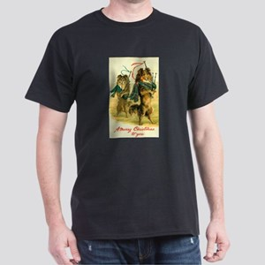 Collie Christmas Dark T-Shirt