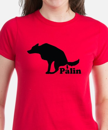 Poop on Palin Women's Dark T-Shirt