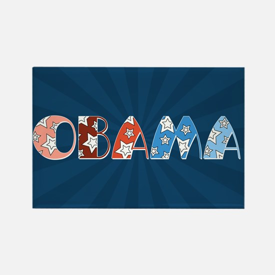 Starry 1920s Obama Rectangle Magnet
