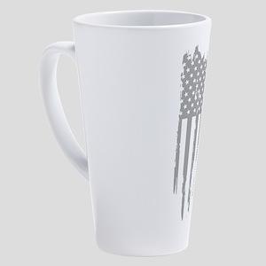 Men's Best Dad Ever Shirt Vint 17 oz Latte Mug