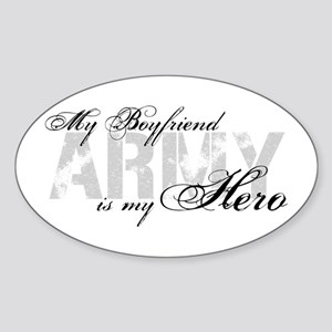 Boyfriend is my Hero ARMY Oval Sticker