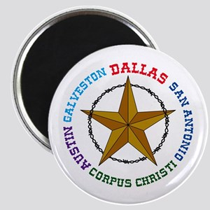 Texas Star and Cities Magnets