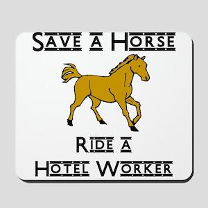 Hotel Worker Mousepad
