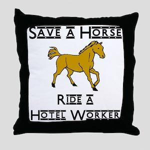 Hotel Worker Throw Pillow
