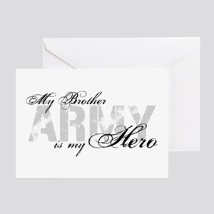 Brother is my Hero ARMY Greeting Cards (Pk of 10)