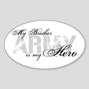 Brother is my Hero ARMY Oval Sticker
