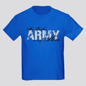 Brother is my Hero ARMY Kids Dark T-Shirt