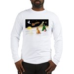 Night Flight/Shiba Inu #7 Long Sleeve T-Shirt