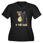 Play me if you dare 9 ball Women's Plus Size V-Nec
