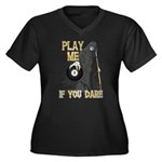 Play me if you Dare 8 Ball Women's Plus Size V-Nec