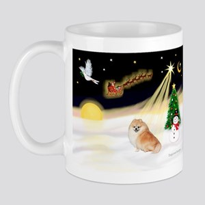 Night Flight/Pomeranian #2 Mug