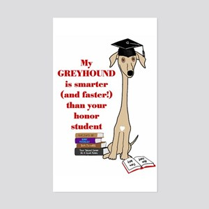 Greyhound Honor Student Rectangle Sticker