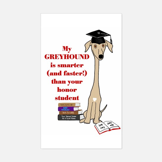 Greyhound Honor Student Rectangle Decal