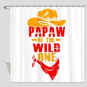 Mens Papaw Of The Wild One T-Shirt Shower Curtain