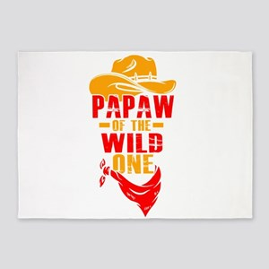 Mens Papaw Of The Wild One T-Shirt 5'x7'Area Rug